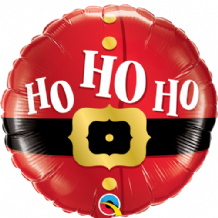 "Christmas Foil Balloon - Ho Ho Ho Santas Belt (18"") 1pc"